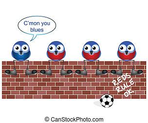 ventilatore, blues, calcio
