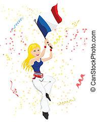 ventilatore, francia, flag., calcio