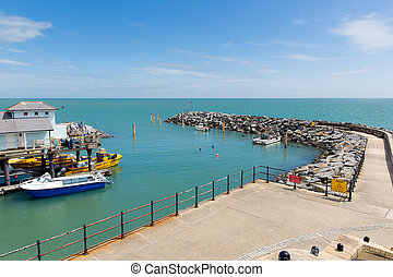 Ventnor harbour Isle of Wight south