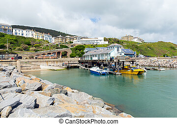 Ventnor harbour Isle of Wight uk