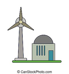 vento, eolic, símbolo, turbina, energia