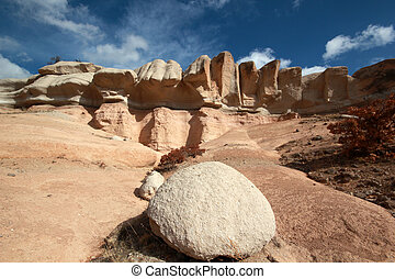 vento, erosão, pedras