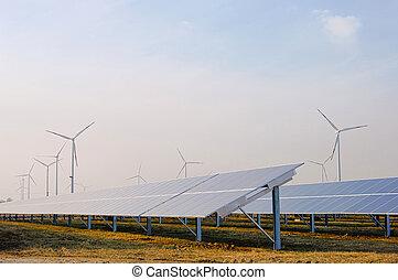 vento, planta, 01, turbina, solar
