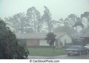 vents, orage, pluie