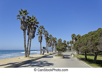 Ventura Beach, CA - Public city Beach in San Buena Ventura...