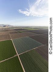 Ventura County California Farm Fields Aerial