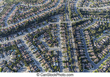 Ventura County Suburban Homes Aerial