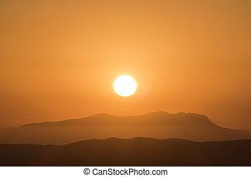 Ventura County Sunset - Ventura County mountain sunset near...