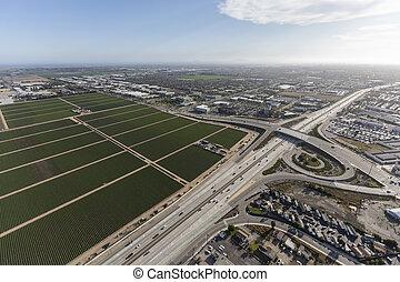 Ventura Freeway Aerial Oxnard California