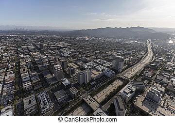 Ventura Freeway and Glendale California Aerial