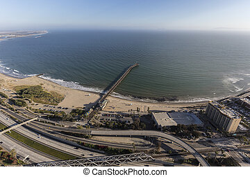 Ventura Pier and Freeway in Southern California