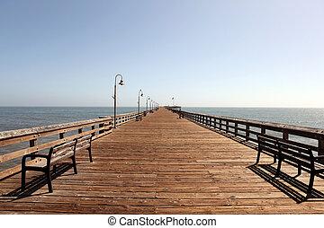 Ventura pier, the longest wooden pier in California.