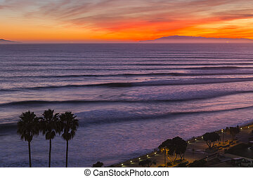 ventura, tramonto california, surf, serie