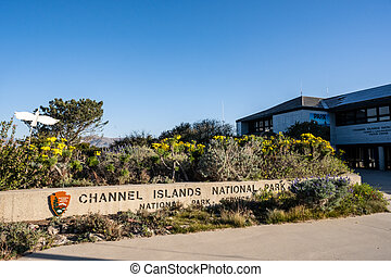 Ventura, United states: february 24, 2021: Garden In Front of Channel Islands Visitors Center