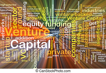 Venture capital background concept glowing