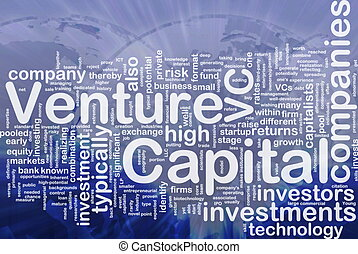 Venture capital is bone background concept - Background...