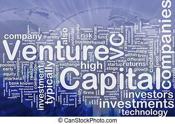 Venture capital is bone background concept