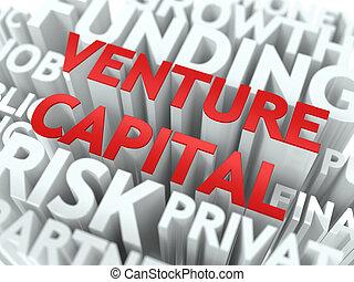 Venture Capital - Wordcloud Concept.