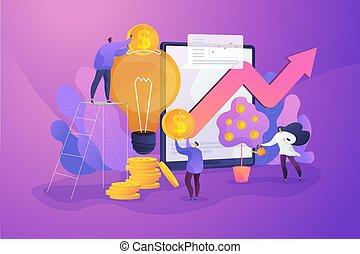 Venture investment concept vector illustration.