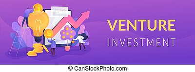 Venture investment web banner concept.