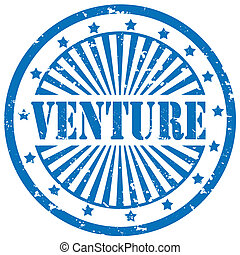 Grunge rubber stamp with word Venture, vector illustration