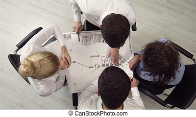 Venue Blueprint - The above view of an executive team ...