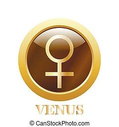 venus., ベクトル, illustration.