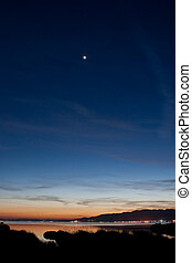 Venus at sunset - Venus at the top of the image in this nice...