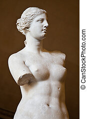 Venus de Milo - Statue of the Greek goddess Aphrodite,...