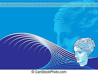 Venus head background vector
