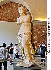 Venus of Milo statue - PARIS, FRANCE - August 3: Venus of...