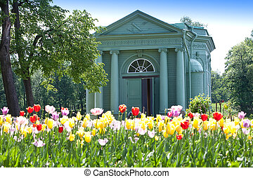 Venus pavilion in park. Gatchina. Petersburg. Russia.