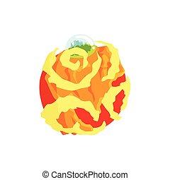 Venus planet of the Solar System cartoon vector Illustration