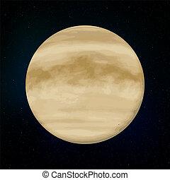 Venus planet 3d vector illustration  globe venus texture map