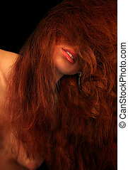 venus - red lips of redhead