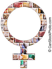 Venus symbol - The Venus symbol from precious stones