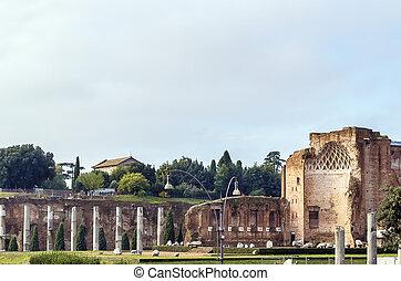 venus, tempel, rom, roma