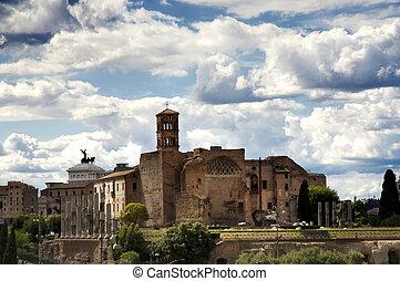 venus, tempel, roma