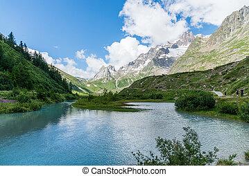 veny valley at aosta, italy