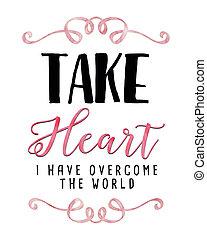 venza, corazón, tener, mundo