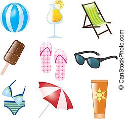 verão, ícones