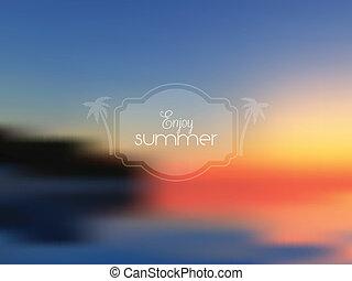 verão, abstratos, 1407, fundo