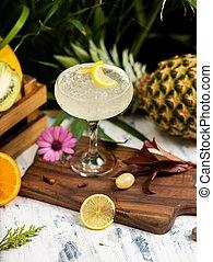 verão, alcoólico, refrescar, coquetel, margarita