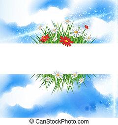 verão, bandeira