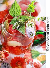 verão, bebida, refrescar