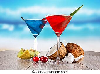 verão, bebidas
