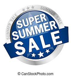 verão, botão, super, venda