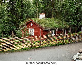 verão, cabana