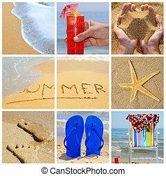verão, colagem