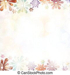 verão, coloridos, primavera, fundo, flores, bandeira